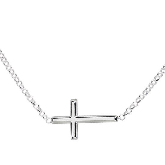 Cherished Moments / Horizontal Cross Necklace