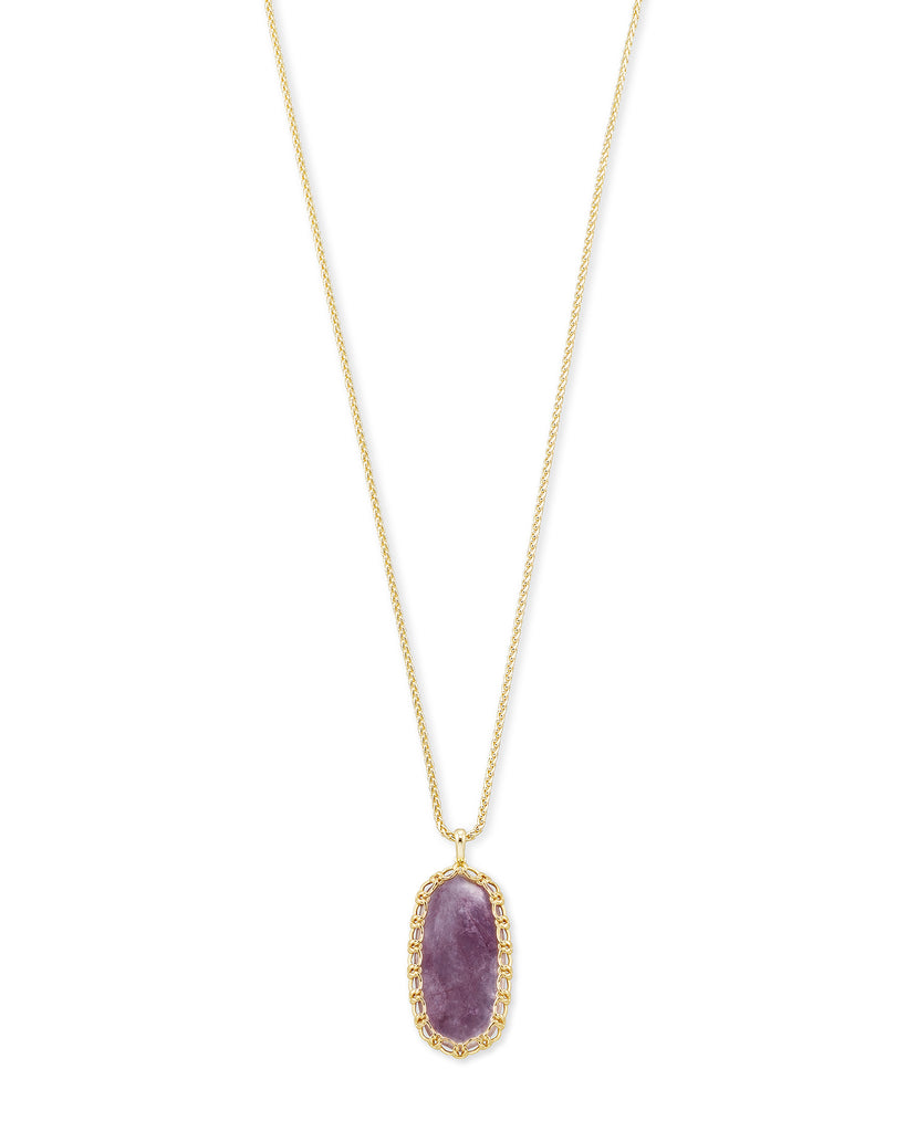 Macrame Reid Necklace / Gold Purple Mica
