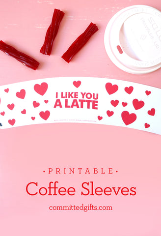 Printable coffee sleeve by Committed