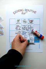 Cute bedtime routine chart printable for kids. Customizable and dry erase!