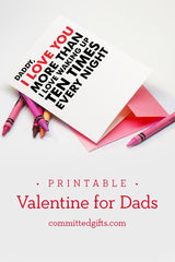 Printable Valentine's card for Daddy from baby.