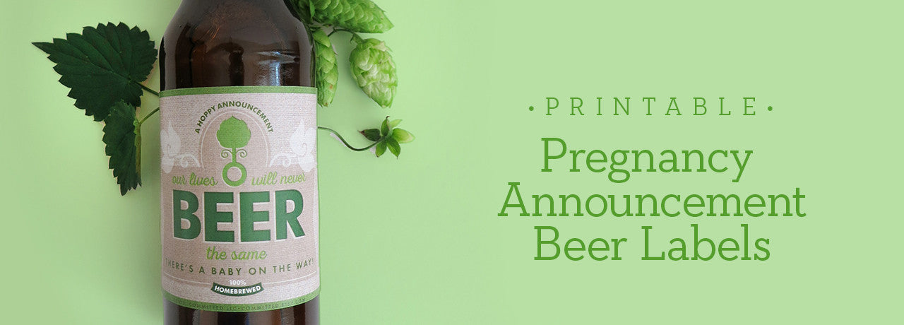 Pregnancy Announcement Beer Labels