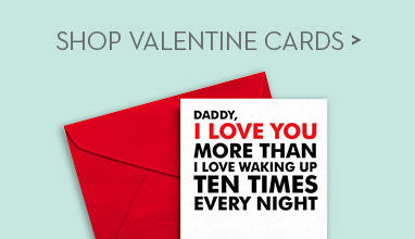 Printable Valentine Cards from Baby to Daddy
