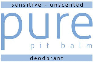 Pure Pit Balm - Sensitive unscented (2.5 oz jar)
