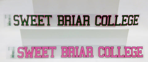 Inside Cling Decal - Sweet Briar College