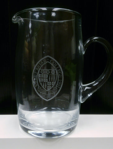 Pitcher Glass Engraved