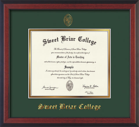 Diploma Frame 14X11 Cherry Reverse Green