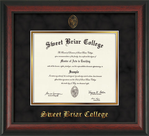 Diploma Frame 14X11 Rosewood Black Suede
