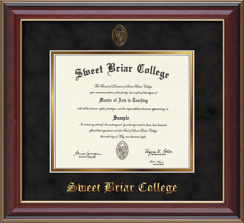 Diploma Frame 14X11 Cherry Lacquer Black Suede