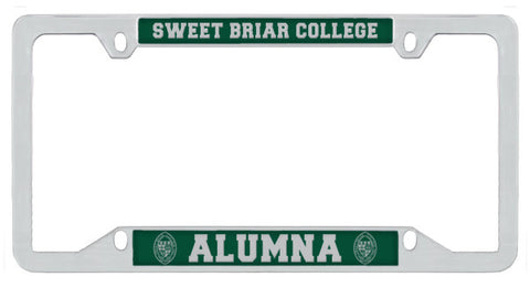 License Plate Thin Rim Alumna Chrome