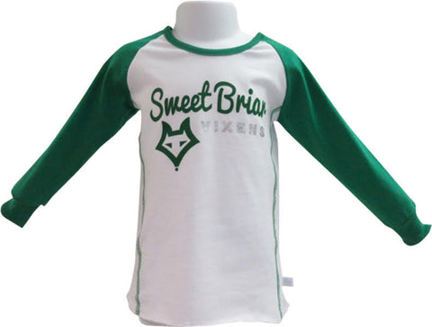 Tee Youth Green LS w/Vixen