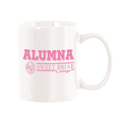 Alumna Mug White with Pink Seal