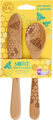 Honey Bee Jam Spoon and Spreader Set
