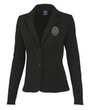 Blazer Knit With Full Color Seal Appliqué