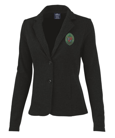 Hartford Knit Blazer with Full Color Crest