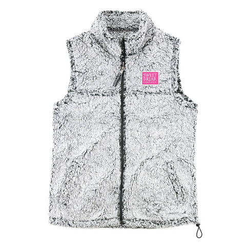 Sherpa Vest Full Zip Frosty Gray