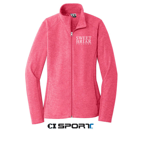 Fleece Full-Zip Jacket Pink Raspberry Heather