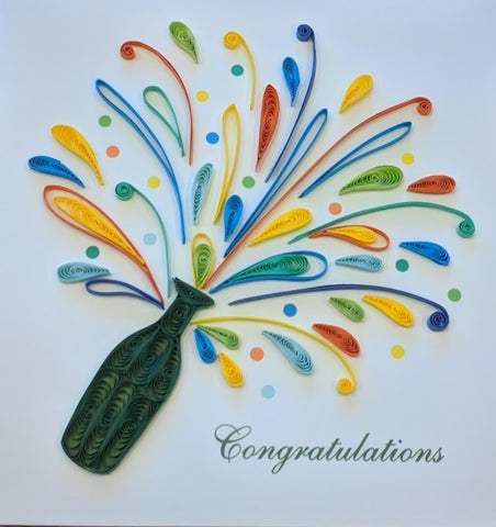Card Quilling Celebration Congratulations