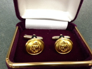Gold Cuff Links with Seal