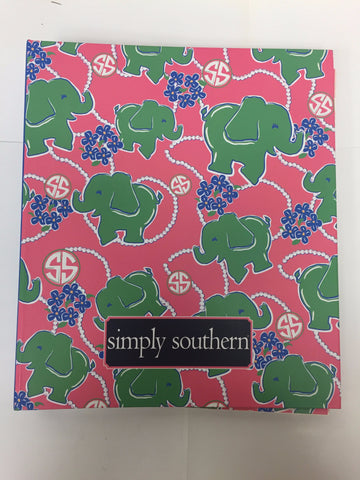Simply Southern Notebook Elephants Large