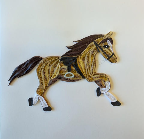 Card Quilling Horse