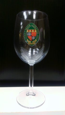 Wine Glass with Colored Seal