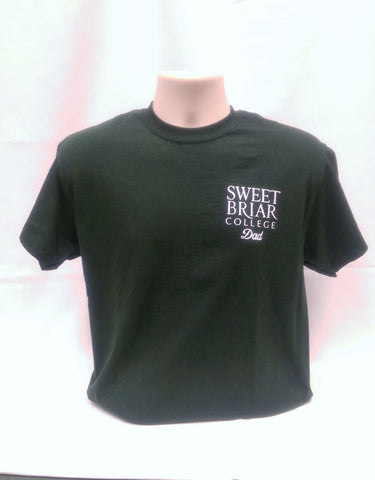Sweet Briar College Dad Tee Green