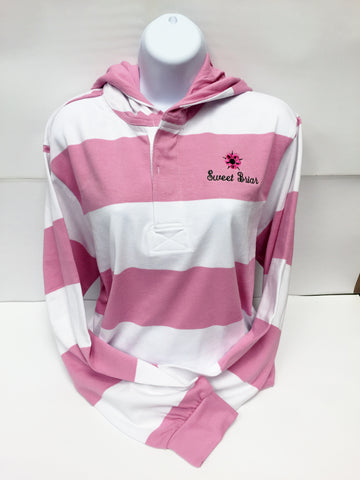 Rugby Shirt Pink and White with SBC Flower