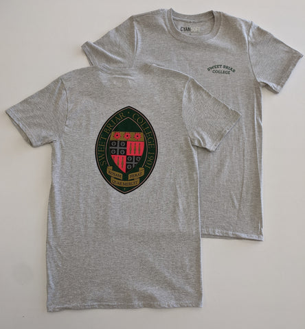 Short Sleeve Tee Shirt Grey With Full Color Seal