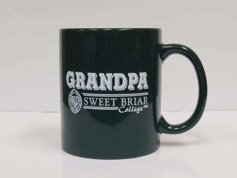 Coffee Mug Green Grandpa W/Seal in White