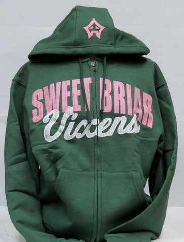 Hoodie Laurel Green Heather Full Zip
