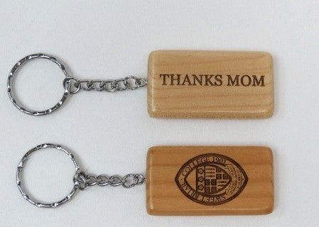 Key Ring Wood SBC Seal/Thanks Mom