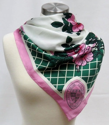 Scarf Silk SBC with Seal and Roses Square