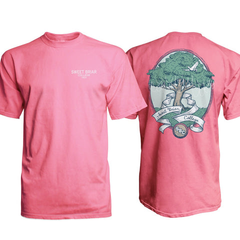 Short Sleeve Comfort Colors Tee with Tree and Pearls