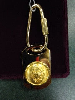 Gold Key Chain with Seal