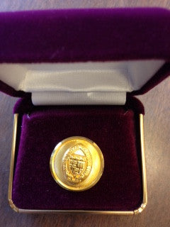 Gold Lapel Pin with Seal
