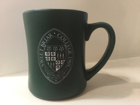 Mug Coffee Etched Green Seal