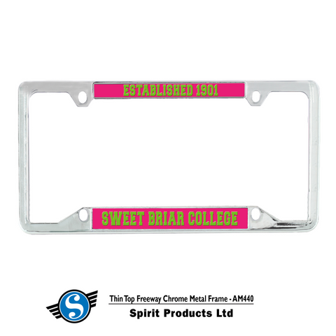 License Plate Thin Rim Est. 1901 Chrome
