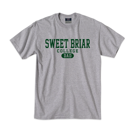 Dad T-Shirt Gray Heather with Green SBC