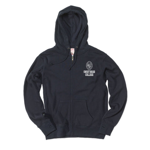Full Zip Ladies Classic Navy with Seal