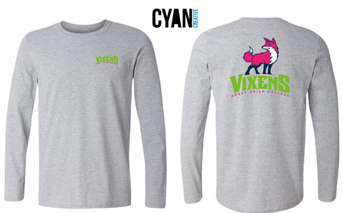 Long Sleeve Tee Shirt New Vixen Grey