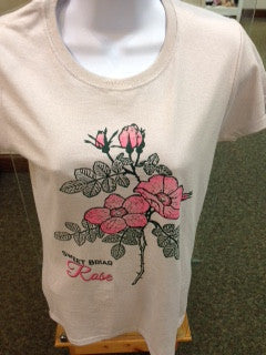 T Shirt with Sweet Briar Rose