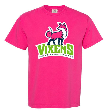Short Sleeve Tee Shirt Pink With New Fierce Vixen