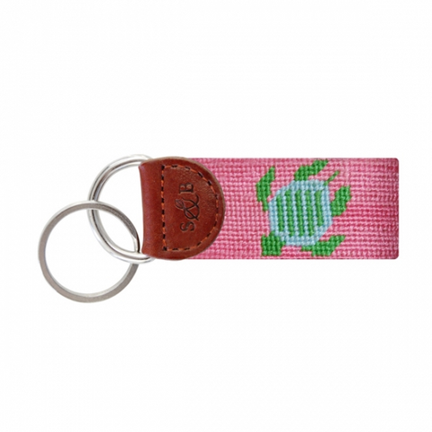 Key Fob Pink with Turtle