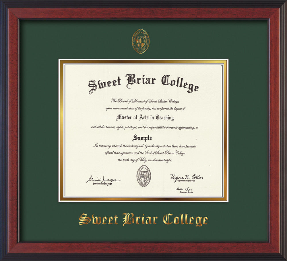 Diploma Frame 13x16 Cherry Reverse Green Not Suede Sweet Briar