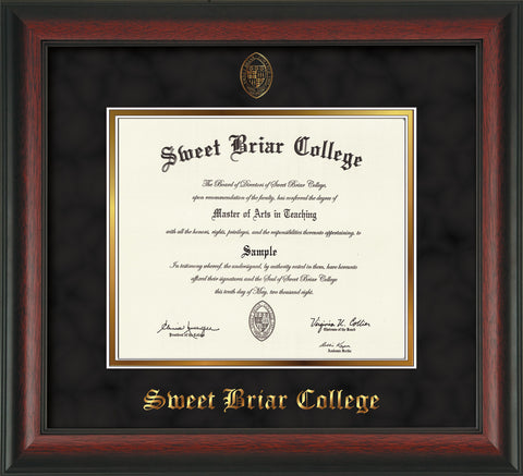 Diploma Frame 13X16 Rosewd Blk Suede, '06-5/15