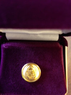 Gold Tie Tack with Seal