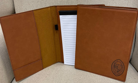 Leatherette 7 X 9 Note Pad Rawhide