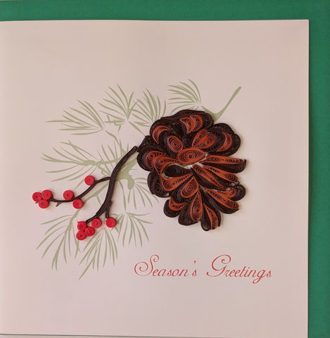 Card Quilling Pine Cone