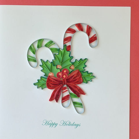 Card Quilling Candy Canes